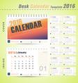 Desk calendar 2016 modern design cover template vector image vector image