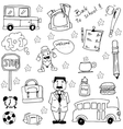 Doodle education element hand draw vector image vector image