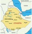 Federal Democratic Republic of Ethiopia - map vector image vector image