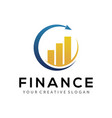 finance logo business and accounting logo design vector image vector image