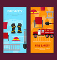 firefighter profession equipment and tools banner vector image vector image