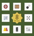 flat icon entertainment set of poker dice vector image vector image