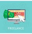 freelance icon vector image vector image