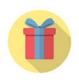 gift icon in flat style vector image