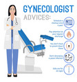 gynecologist image vector image vector image