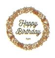 happy birthday inscription greeting card vector image