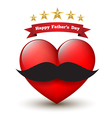 Heart with happy father day vector image vector image