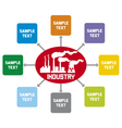 industry diagram vector image vector image