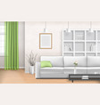 iving room interior vector image vector image