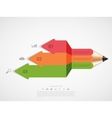 modern pencil infographic vector image vector image