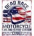 motorcycle helmet typography tee graphic design vector image vector image