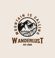 mountain adventure lineart logo template vector image