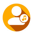 music people user icon vector image