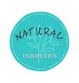natural cosmetics logo vector image vector image