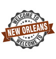 new orleans round ribbon seal vector image vector image