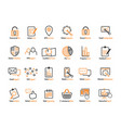 online web icon and business icon set vector image vector image