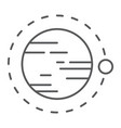 orbit thin line icon cosmos and space circle vector image