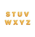 realistic golden balloons alphabet isolated vector image vector image