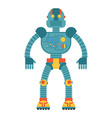Robot Retro toy Cyborg technological machine vector image