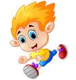 Running boy cartoon vector image