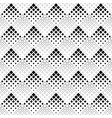 seamless black and white abstract square pattern vector image vector image