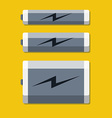 Set of batteries in flat style vector image vector image