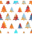 set of christmas colorful tree decoration small vector image