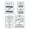 set vintage template quotes 03 vector image vector image