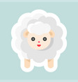 sheep icon easter and spring flat sticker vector image vector image