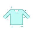 shirt icon design vector image vector image