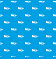 shoe pattern seamless blue vector image vector image