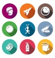 Space flight Icons Set vector image vector image