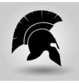 Spartan Helmet silhouette vector image vector image