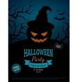 Spooky pumpkin in witch hat vector image vector image