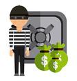 stealing money vector image