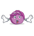 surprised red cabbage mascot cartoon vector image vector image