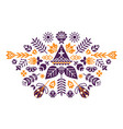 symmetrical composition of ethnic elements the vector image vector image