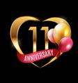 template gold logo 11 years anniversary