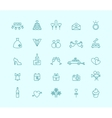 thin line wedding icons vector image