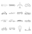 Transportation icons set outline style vector image vector image