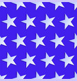 usa style seamless pattern white stars on blue vector image vector image