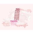 vintage pisa tower background vector image vector image