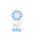 winter greeting card with geometric ornament vector image