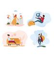 women doing different activities vector image