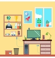 Workspace In Room vector image vector image