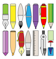 writing drawing and painting tools and accessory vector image