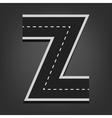 Z letter Road font vector image vector image