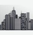 black and white city skyline vector image