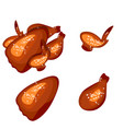 grilled chicken isolated vector image