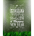 2014 Merry Christmas Vintage typo background vector image vector image